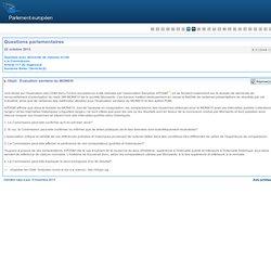 PARLEMENT EUROPEEN - Réponse à question N°E-012049-13 Évaluation sanitaire du MON810