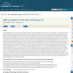 GRE Question of the Day (February 2)