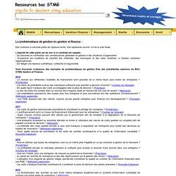 La question de gestion en Gestion et Finance au BAC STMG