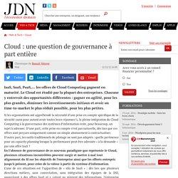Cloud : une question de gouvernance à part entière