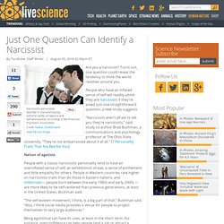 Just One Question Can Identify a Narcissist
