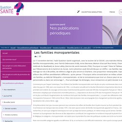 Question Santé - Les familles monoparentales