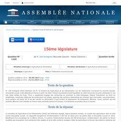 JO ASSEMBLEE NATIONALE 21/11/17 Au sommaire: QE 1249 agriculture - Traitements mouche Susukii