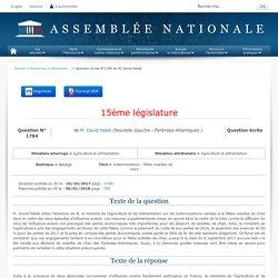 JO ASSEMBLEE NATIONALE 30/01/18 Au sommaire: QE 1784 élevage - Indemnisations - filière volailles de chair - influenza aviaire