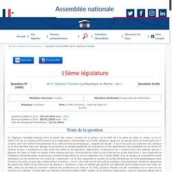 JO ASSEMBLEE NATIONALE 28/01/20 Au sommaire: QE 24001 animaux - Trafic d'animaux - Vente de chiens et de chats - Obligation de SIRET
