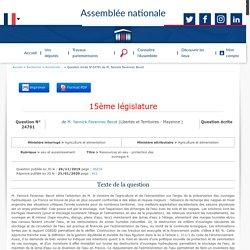 JO ASSEMBLEE NATIONALE 21/01/20 Réponse à question N°QE 24701 eau et assainissement - Ressources en eau - protection des ouvrages hydrauliques