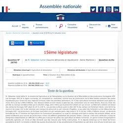 JO ASSEMBLEE NATIONALE 09/06/20 Au sommaire: QE 28795 agroalimentaire - Situation de la filière laitière et des productions fromagères AOP