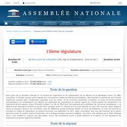 JO ASSEMBLEE NATIONALE 17/04/18 Au sommaire: QE 5283 animaux - Réforme de la généalogie canine