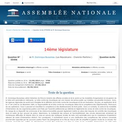 JO ASSEMBLEE NATIONALE 07/10/14 Au sommaire: QE 55496 santé - épidémies - maladies vectorielles. lutte et prévention