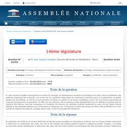 JO ASSEMBLEE NATIONALE 21/10/15 Au sommaire: QE 63359 animaux - goélands - prolifération. lutte et prévention