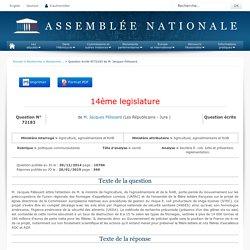 JO ASSEMBLEE NATIONALE 20/01/15 Au sommaire: QE 72183 politiques communautaires - santé - bactérie E. coli. lutte et prévention. réglementation