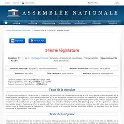 JO ASSEMBLEE NATIONALE 07/04/15 Réponse à question 73194 aquaponie. développement.