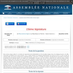 JO ASSEMBLEE NATIONALE 14/08/18 Au sommaire : QE 7693 élevage - Maltraitance d'un élevage de porcs