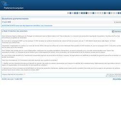 PARLEMENT EUROPEEN - Réponse à question: E-3404/08 Protection des amandiers