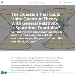 The Question That Could Unite Quantum Theory With General Relativity: — The P...
