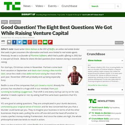 Good Question! The Eight Best Questions We Got While Raising Venture Capital