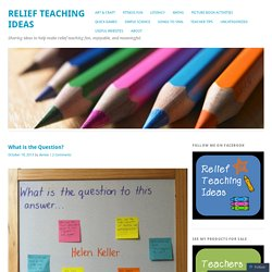 Relief Teaching Ideas