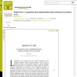 Argent et art : La question de la représentation dans la finance et la culture
