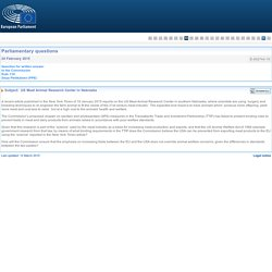 PARLEMENT EUROPEEN - Réponse à question E-002743-15 US Meat Animal Research Center in Nebraska