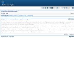 PARLEMENT EUROPEEN - Réponse à question E-0855/10 Objet: Problème sanitaire en Corse: le cynips du châtaignier