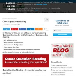 Quora Question Stealing - Are members stealing your questions?