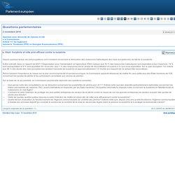 PARLEMENT EUROPEEN - Réponse à question E-9046/2010 : Surpêche et lutte plus efficace contre la surpêche