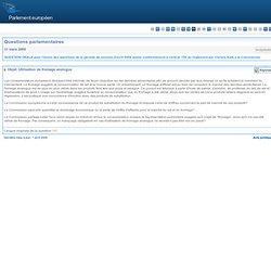 PARLEMENT EUROPEEN - Réponse à question H-0200/09 Utilisation de fromage analogue