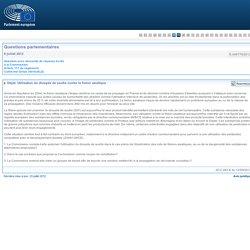 PARLEMENT EUROPEEN - Réponse à question E-006779/2012 Utilisation du dioxyde de soufre contre le frelon asiatique