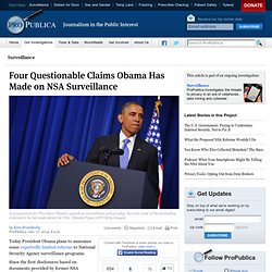 Four Questionable Claims Obama Has Made on NSA Surveillance