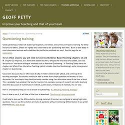 Questioning training - Geoff PettyGeoff Petty