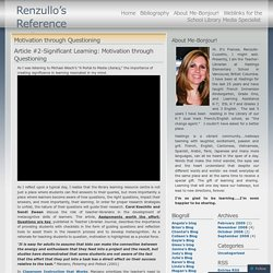 Motivation through Questioning « Renzullo's Reference Reflections