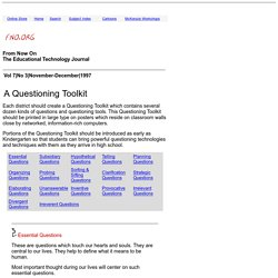 From Now On - Questioning Toolkit