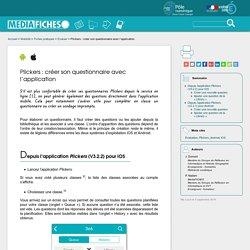 Créer son questionnaire avec l'application Plickers