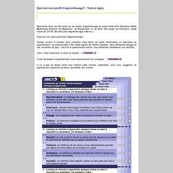 Questionnaire de profil d'apprentissage