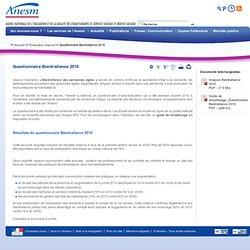 Questionnaire Bientraitance 2010