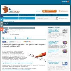 Coopérative pédagogique : un questionnaire pour un outil collaboratif