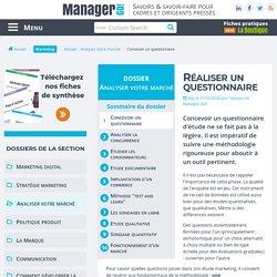 Questionnaire d'enquête, conception - sélection d'exemples et articles