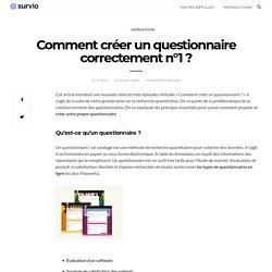 Comment créer un questionnaire correctement n°1 ? - Blog Survio