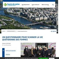 Un questionnaire pour scanner la vie quotidienne des femmes - Conseil départemental des Hauts-de-Seine