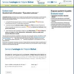 SCORE D'EJACULATION PRECOCE ( urobichat.fr)