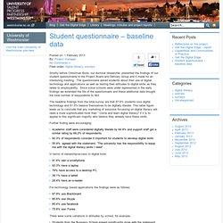 » Student questionnaire – baseline data JISC Employability