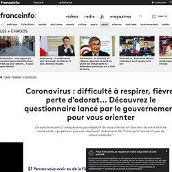 Coronavirus : difficulté à respirer, fièvre, perte d'odorat... Découvrez le questionnaire lancé par le gouvernement pour vous orienter...