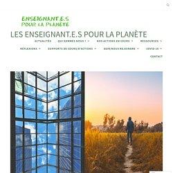 Questionnaire «Inventaire du monde d'hier pour préparer le monde de demain» – Les enseignant.e.s pour la planète