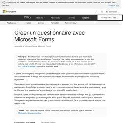 Créer un questionnaire avec Microsoft Forms - OneNote