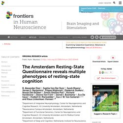 The Amsterdam Resting-State Questionnaire reveals multiple phenotypes of resting-state cognition | Frontiers in Human Neuroscience