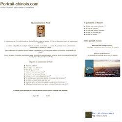 Questionnaire de Pivot - Portrait chinois