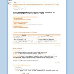 SUP : Guide d'élaboration de questionnaires d'évaluation des connaissances sous forme de QCM