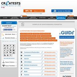 Créer un Sondage - Exemples gratuits de questionnaires d'enquête