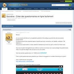 Socrative - Créer des questionnaires en ligne facilement - TICE à l'école élémentaire