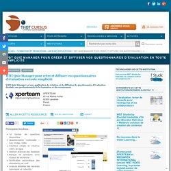 WBT Quiz Manager pour créer et diffuser vos questionnaires d'évaluation en toute simplicité
